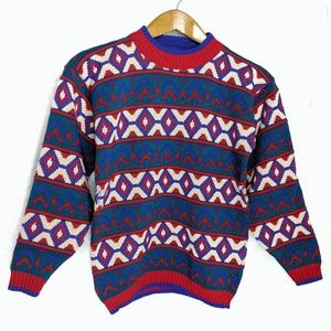Vintage Hot Fudge Ski Sweater Sz S/M